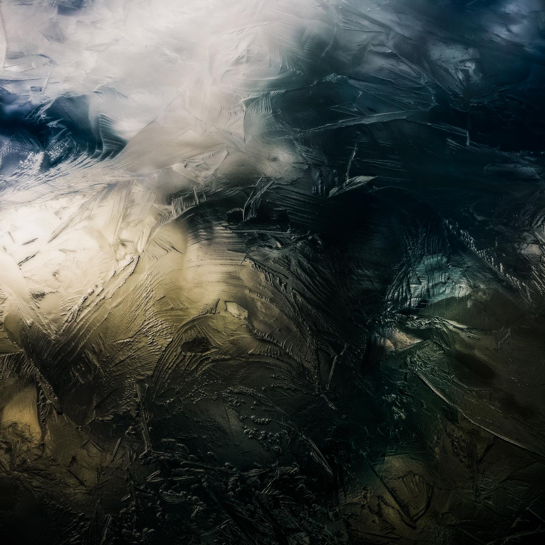 Foto geheimzinnig leven onder het ijs
