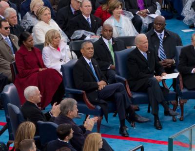Foto Obama tijdens inhuldiging Trump