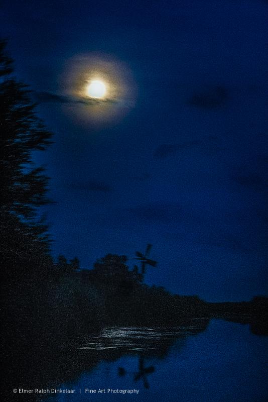 Foto natuur bij nacht, verfraaid